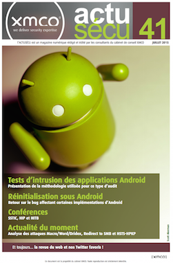 [ActuSécu #41] Tests d'intrusion des applications Android