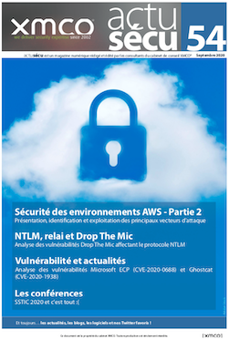 ActuSécu #54 : AWS, NTLM et Drop The Mic – Septembre 2020