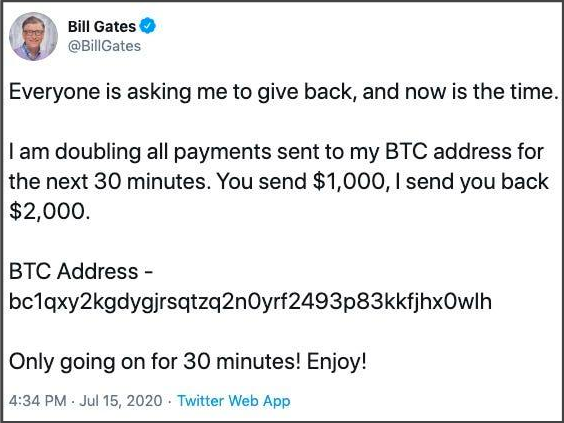 Twitter : Give me your bitcoins